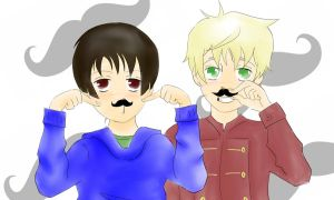 Moustache Time! Speed Paint/Draw by CharleyxNaruto