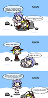 4koma - Canon VS Fanon: That Yuki and Mai Battle by exfodes