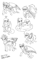 Pegasi - Live Stream drawings by InuHoshi-to-DarkPen