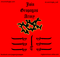 Gropagas Army poster by mordredderby