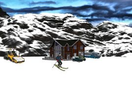 The Ski Lodge by TheFaceArtiste