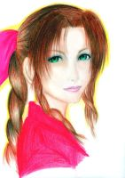 Aerith Gainsborough by elleinead