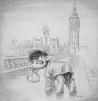Lone London Pony by DeathCutlet