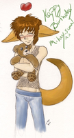 mikey with plushie bear by GenkiShuichi