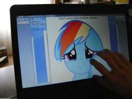 Rainbow Dash in my laptop 2 by OLEG778