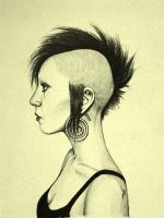 Punk chick by Mariochaz
