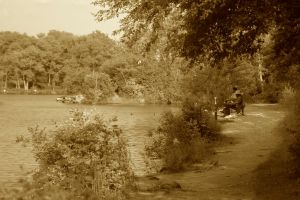 Fishermen in Sepia by gerald-the-mouse3