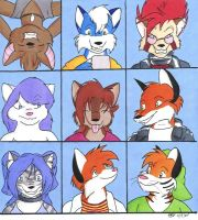 The Furry Bunch by redwulf