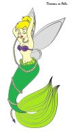 Colored Tinkerbell as Ariel by elizabeth-diggory
