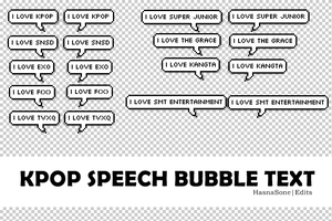 KPOP SPEECH Bubble Text PNG Pack by HasnaSone