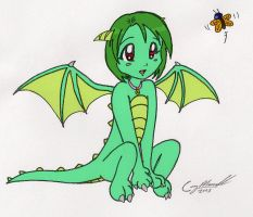 Little dragon girl by cqmorrell