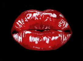 Lips Painting 3 by RachaelHarding