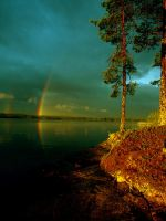 rainbow fairytale-land by liinnea