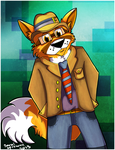Hipster Fox by theKatandtheBox