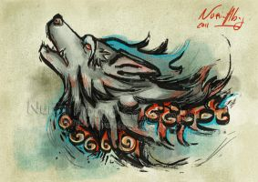 Wolf spirit by nuriaabajo