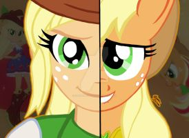 My Little Pony FIM Duality: Applejack by OptimumBuster