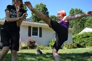 Day 141: Tiffany used high kick! by KnightLuna