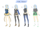 Lorette - outfit set/reference sheet by LotusLumino