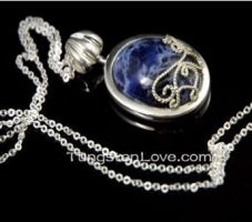 The Vampire Diaries Katherine's Lapis Necklace by milyyu