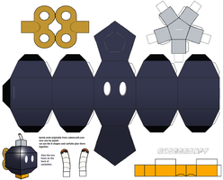 Bomb-Omb papercraft template by jepale