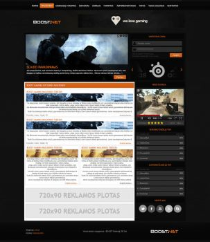 BOOST web design by Whistas