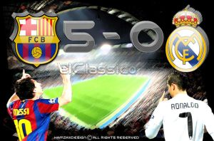 FC Barcelona 5-0 Real Madrid by lechham