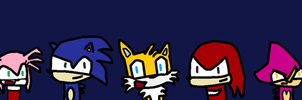 bunch of sonic characters by combine345