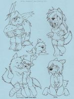 Sample Chibis by d6016