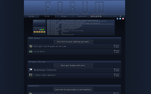 Forum Interface Design by stiannius