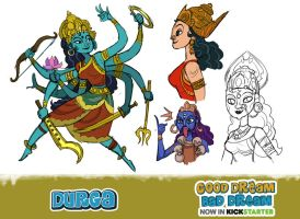 DURGA, the Goddess by Onikaizer