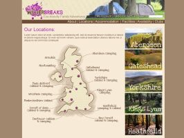 Wilderbreaks website locations page by Adele-Waldrom