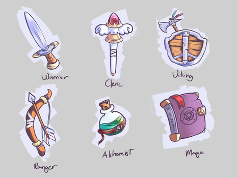 Game Class Icons by cjohn22