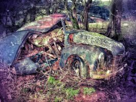 Wrecked Car 1, Wales by aboshell