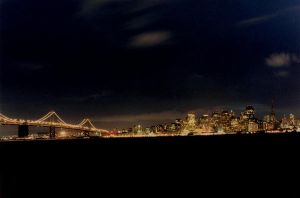 San Francisco at night by shftwings