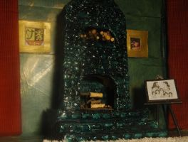 Thorin's bedroom in 1:12 scale:fireplace by PrincessAveril