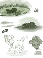 Gator Doodles by xWolfPrincex
