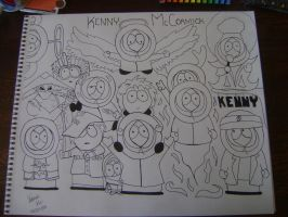Kenny's Group Photo Inked by xoxskycandyxox