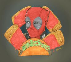 Deadpool - Bday gift by Marker-Mistress