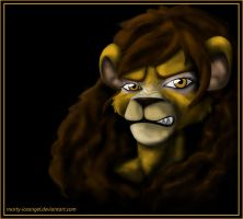 angry lioness by LadyMartina