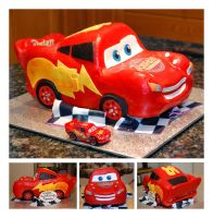 Lightning McQueen 3D Car Cake by sweetcivic