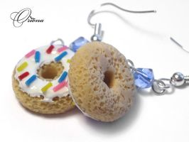 Donuts with icing by OrionaJewelry