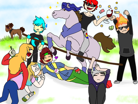 Amother group drawing by CanadianGirl001