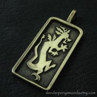 Bronze Discord pendant by Sulislaw