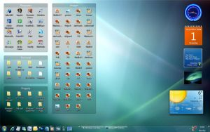 Win7 Desk with Stardock Fences by fediaFedia