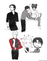 Hannibal s2e09-10 doodle compilation by bayobayo