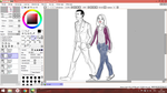 9th Doctor and Rose (in progress) by KiraWinchester