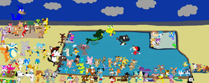 ToonWorld Pool Party by JustinandDennnis