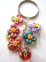 flower clay charm by beatus-vir