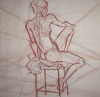 Seated Female Nude 2 by Pomegranate-Pen