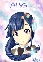 Vocaloid ALYS - portrait by Kitzie-Melody